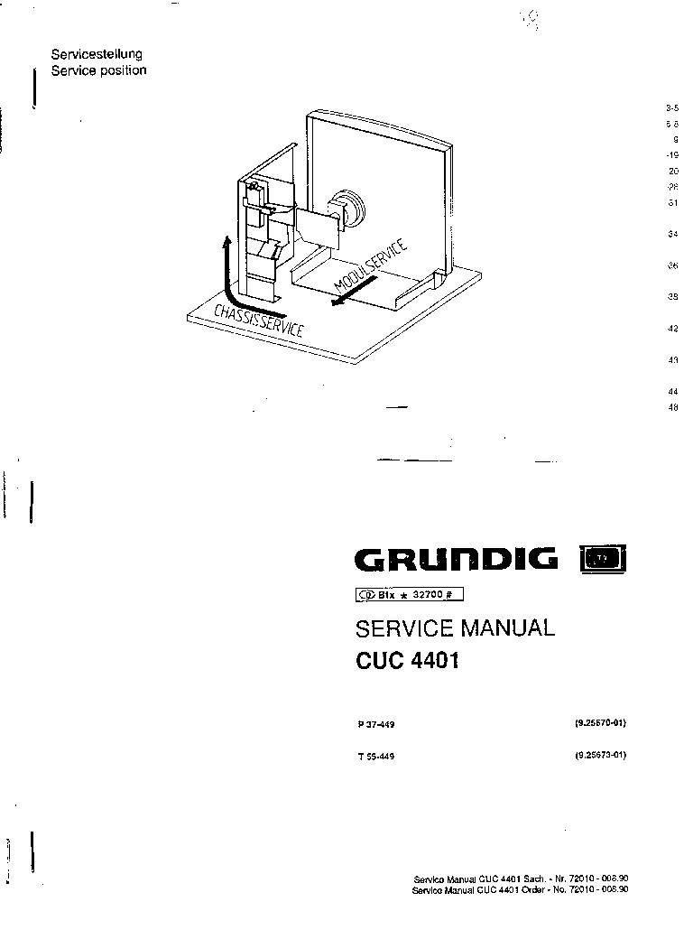 GRUNDIG CHASSIS SX 32VLC 37VLC 32VLE 40VLE FINE-ARTS 32 40