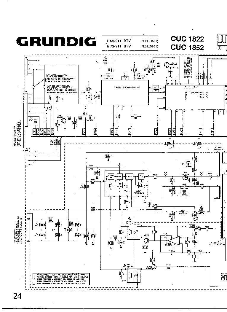 GRUNDIG CUC-1822,1852 SCH Service Manual download
