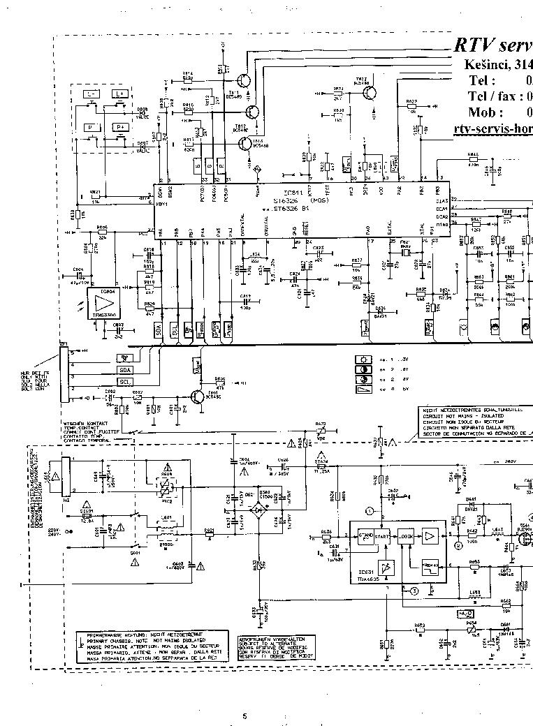 GRUNDIG CUC-5303 SCH Service Manual download, schematics
