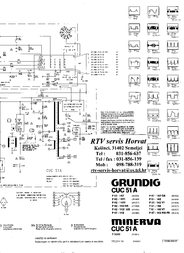 GRUNDIG CUC51A Service Manual download, schematics, eeprom