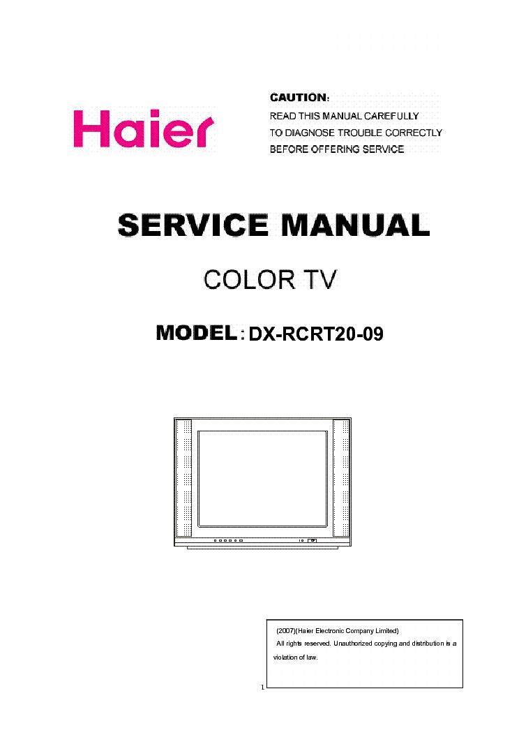 HAIER LE32LUZ1 LE39LUZ1 CHASSIS TP.VST59.P83-65W18 Service