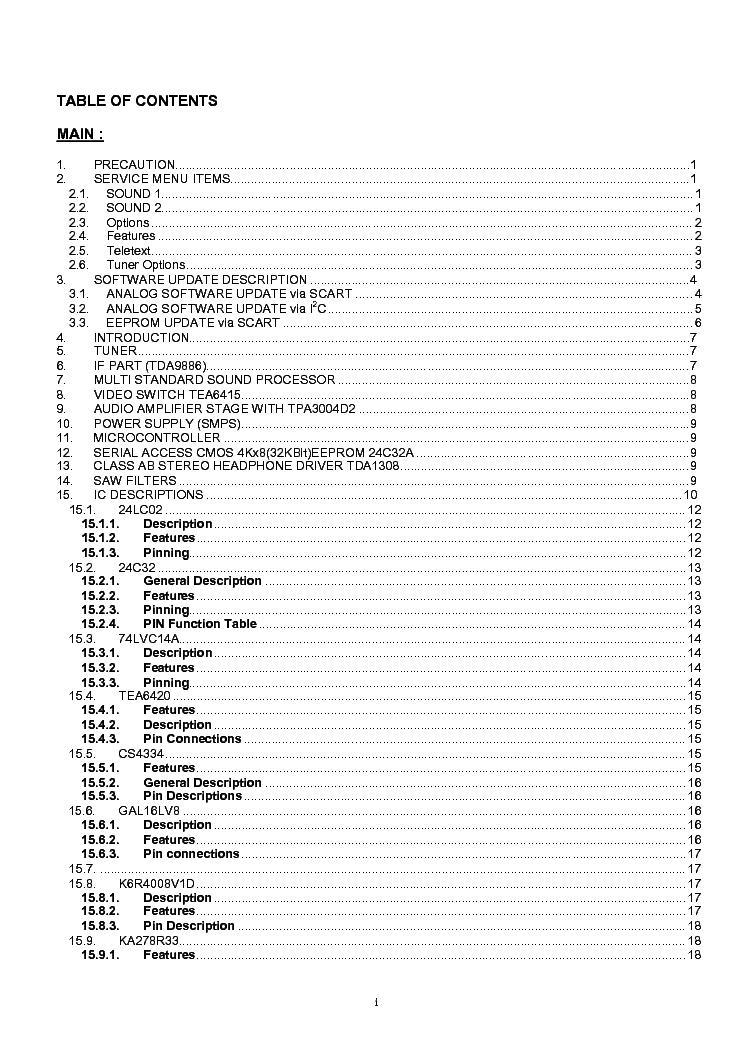 HITACHI 37LD8500 Service Manual download, schematics
