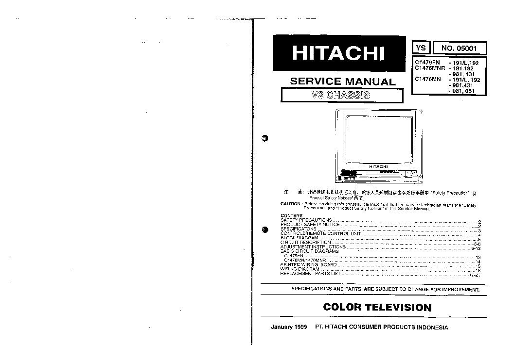 HITACHI 42V515 42V710 50V710 60V710 42V715 50V715 60V715