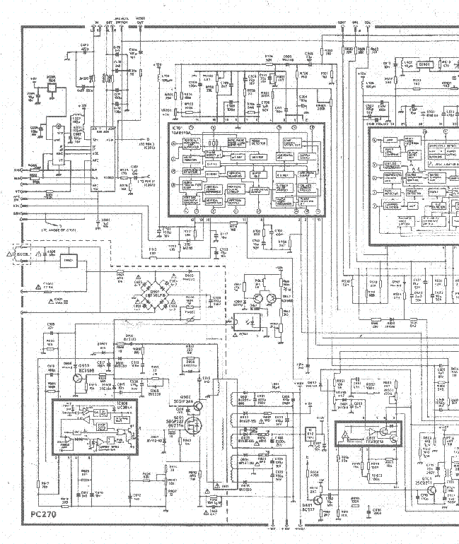 HITACHI C25S250 TV D Service Manual download, schematics