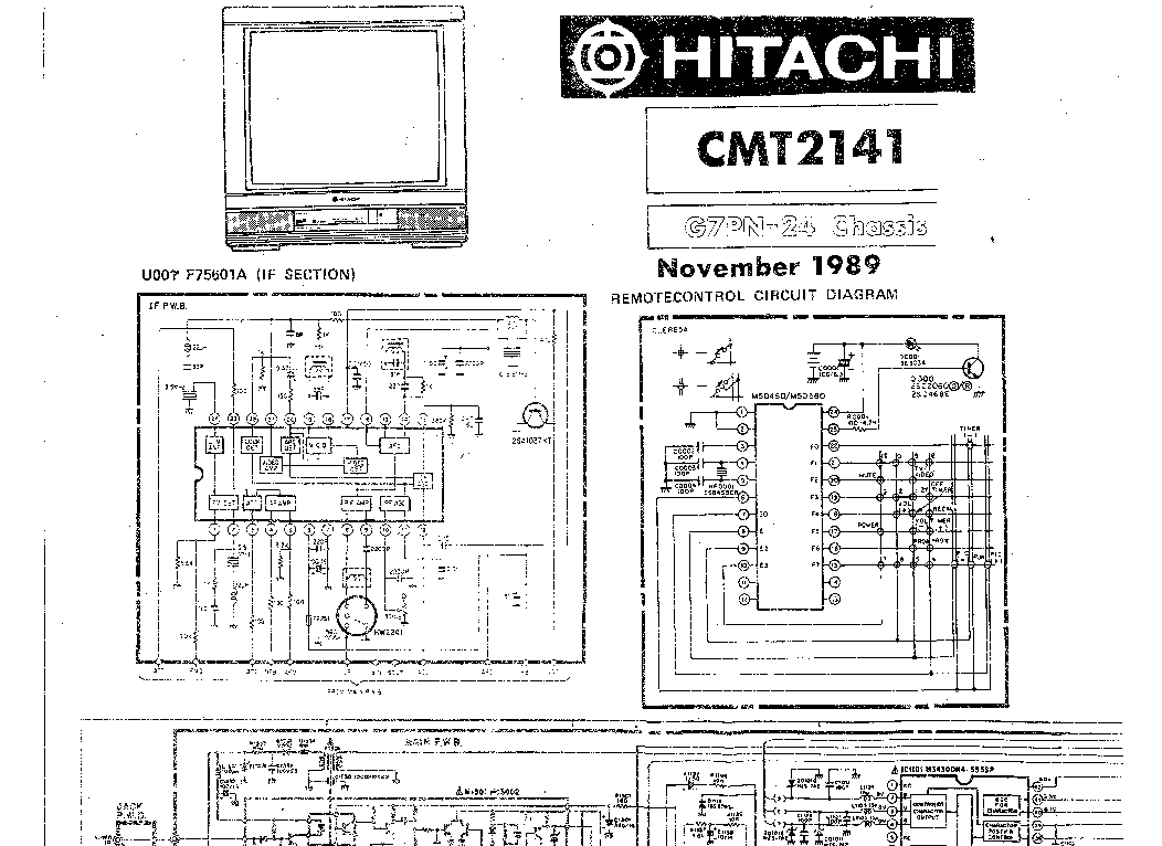 HITACHI CMT-2141 SCH Service Manual download, schematics