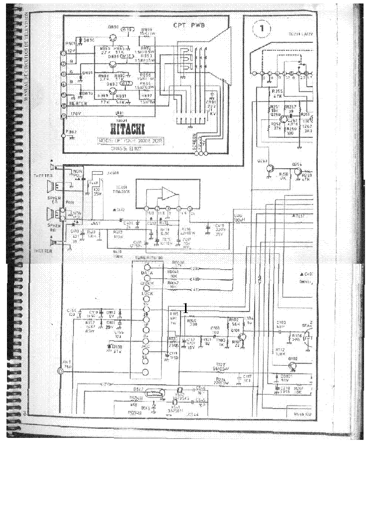 HITACHI CPT-1420R Service Manual download, schematics