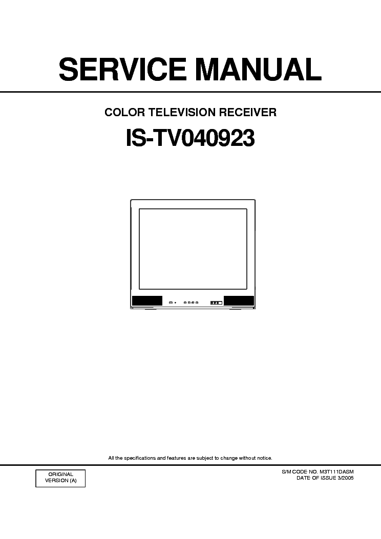 INSIGNIA IS-TV040923 Service Manual download, schematics