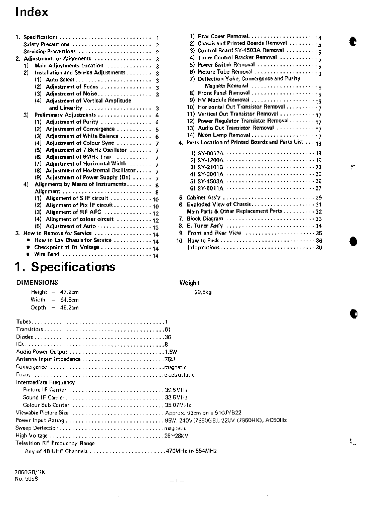 JVC 7680GB 7980HK Service Manual download, schematics