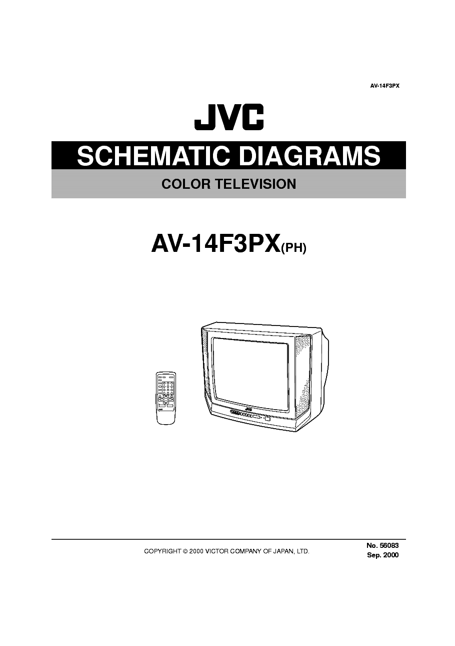 JVC TV AV28BT7E Service Manual download, schematics