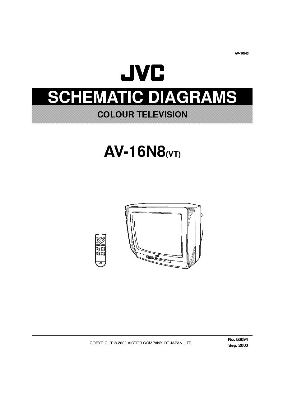JVC AV-16N8-VT Service Manual download, schematics, eeprom