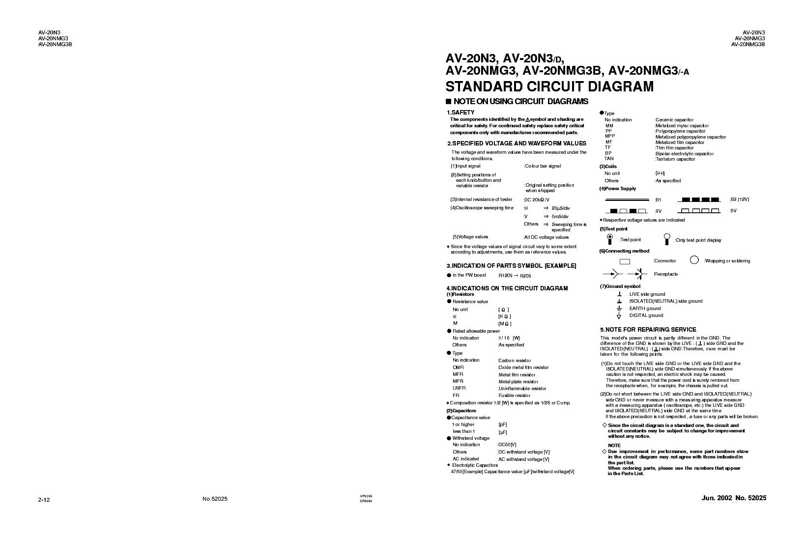 hight resolution of jvc av 20n3 20nmg3 20nmg3b chassis cg sm service manual 2nd page