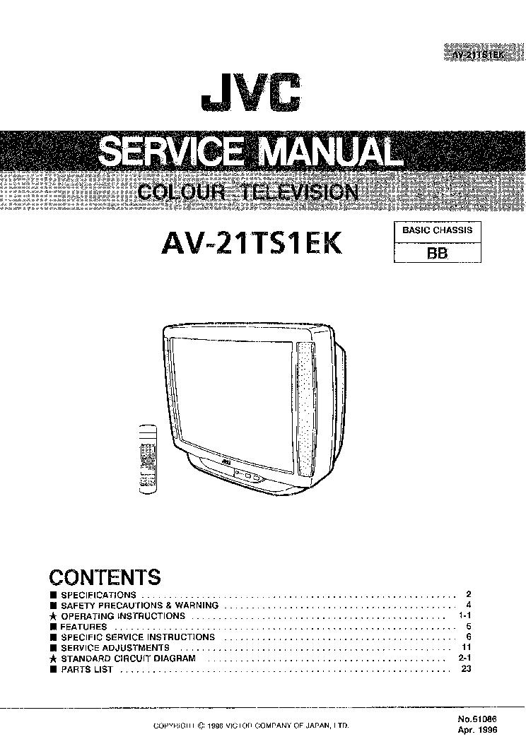 JVC AV14BJ8ENS AV14BM8ENS EPS EES SM Service Manual free