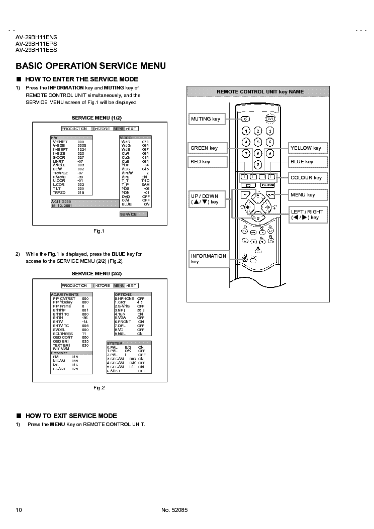 JVC AV-29BH11 11AK41 Service Manual download, schematics