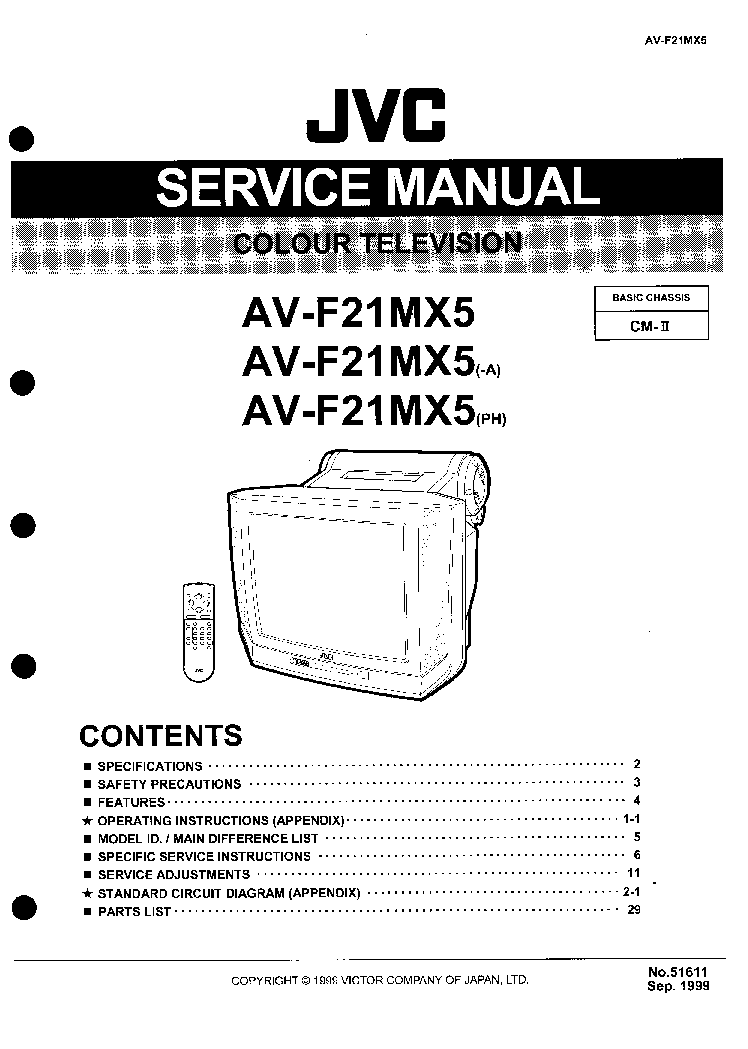JVC AV-F21MX5 Service Manual download, schematics, eeprom