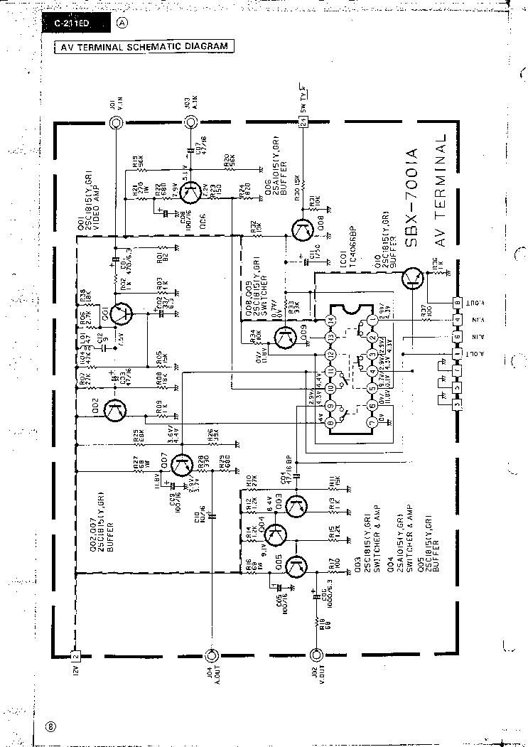 JVC C-211ED CH BX Service Manual download, schematics
