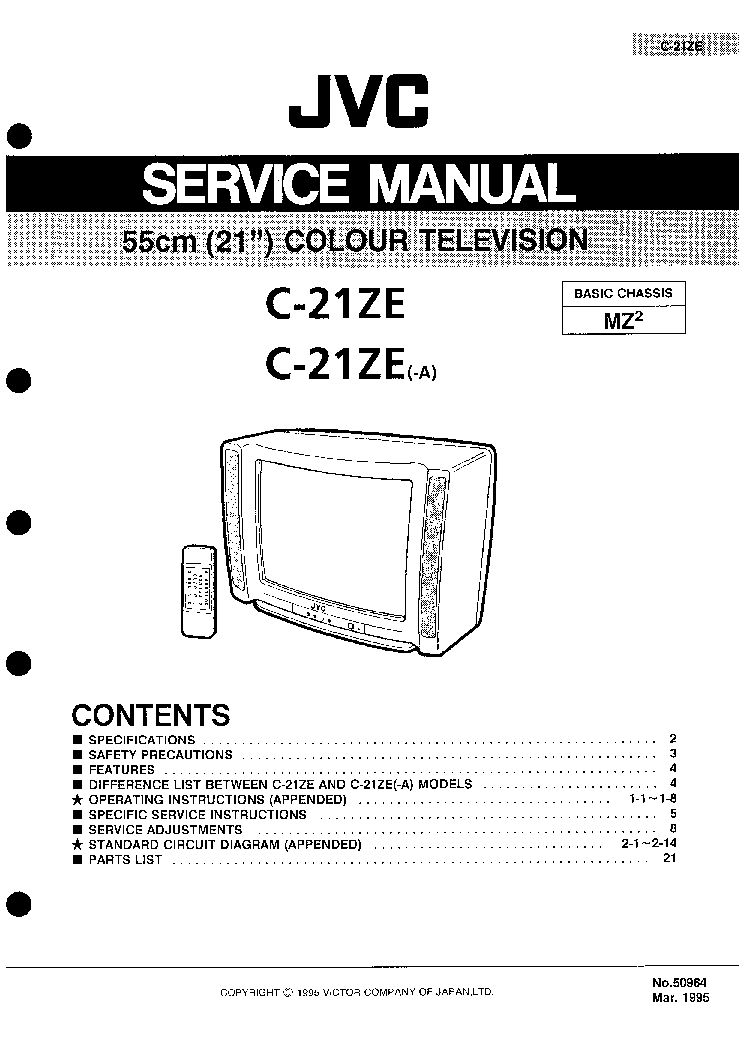 JVC C-210MU Service Manual free download, schematics