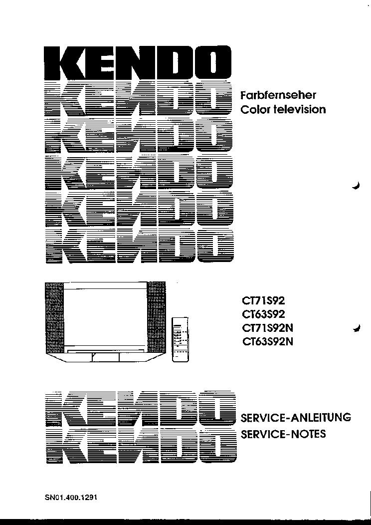 KENDO CT20 ST9231 STV6224A2 TV D Service Manual download