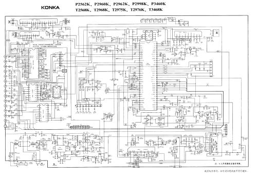 small resolution of konka schematic diagrams t2568k tda9383 la7845 tda16846 service manual 1st page