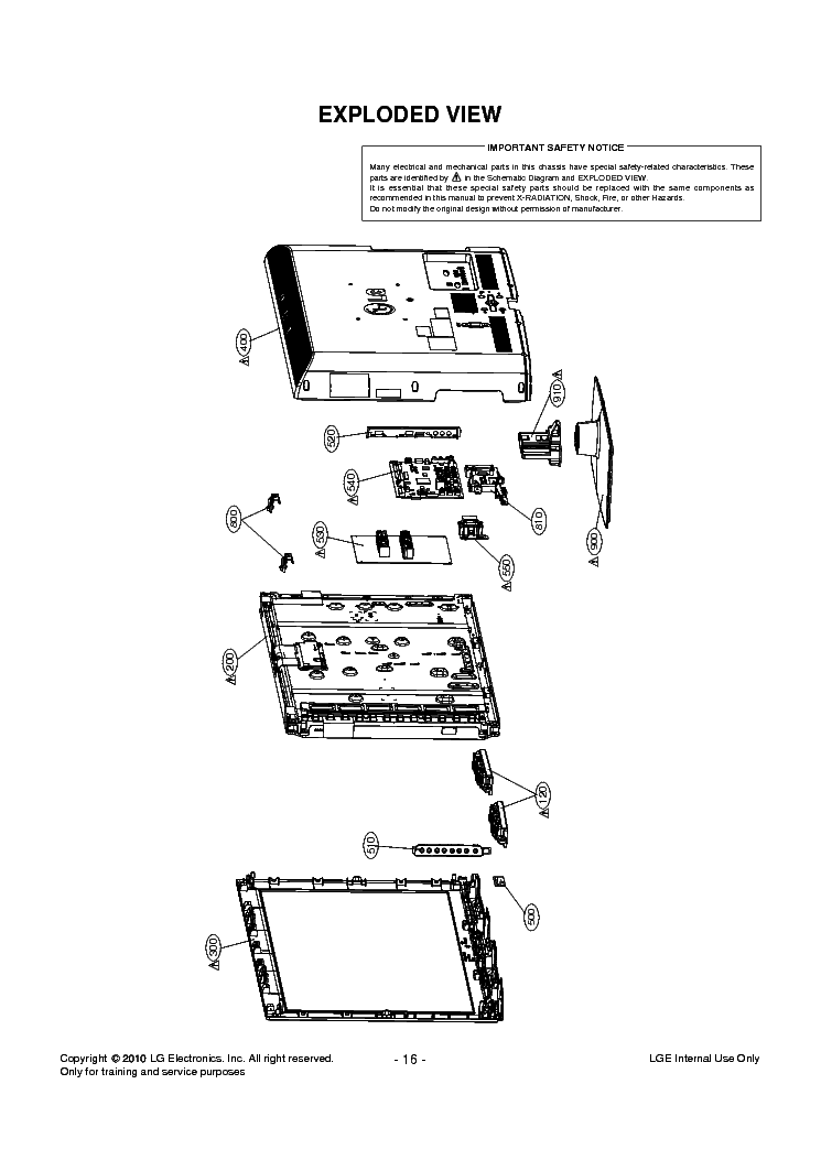 LG 32LD350-UB CHASSIS LA04A EXPLODED SCH Service Manual