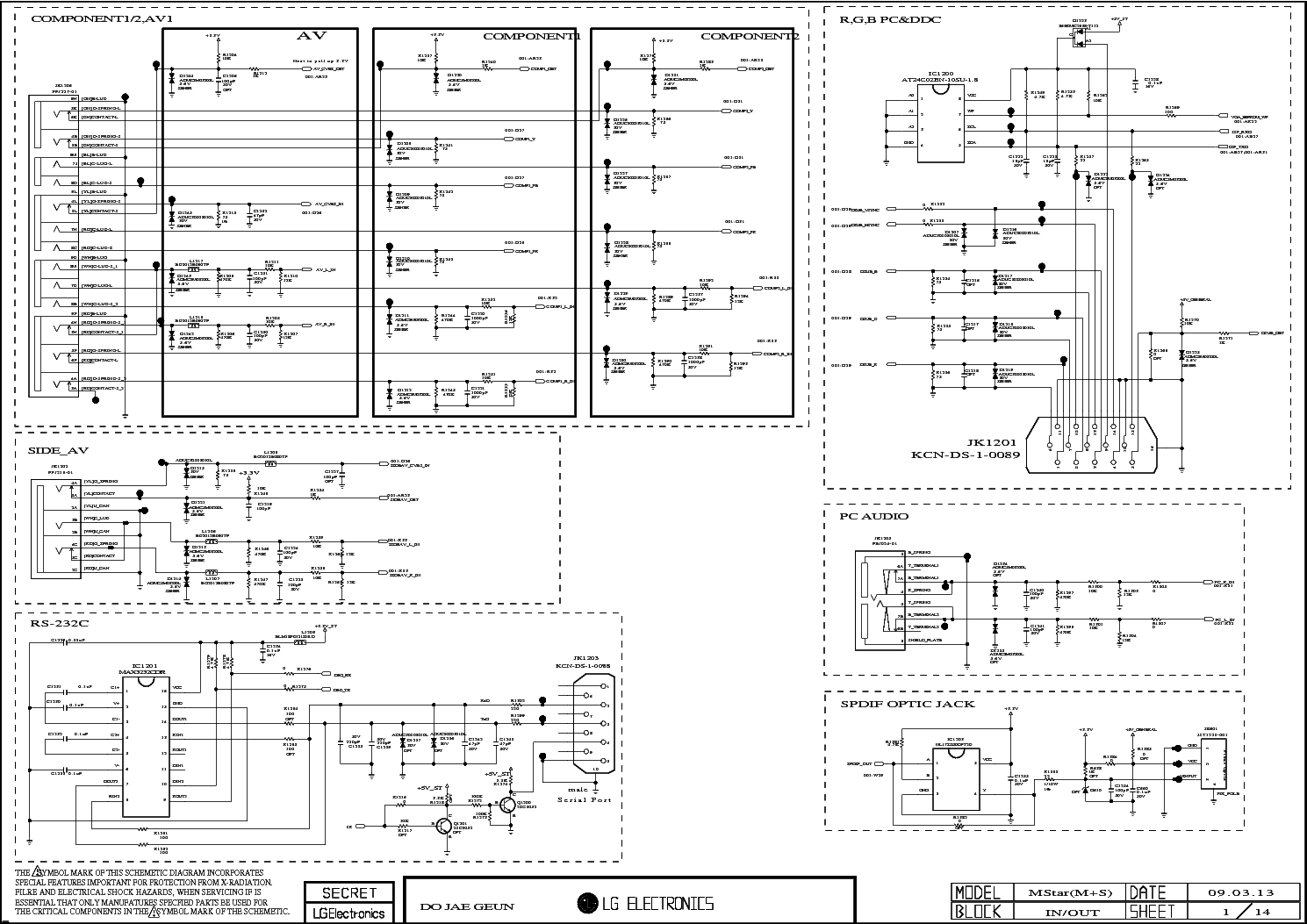 LG 42LH40 SCH Service Manual download, schematics, eeprom