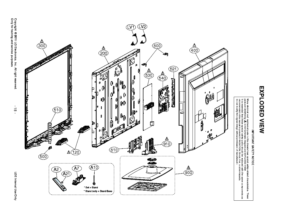 LG 42LK520 EXPLODED-VIEW Service Manual download