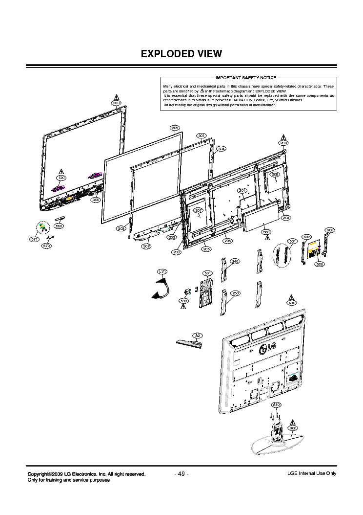 LG 60PS11 SCHEMATICS EXPLODED VIEW Service Manual download
