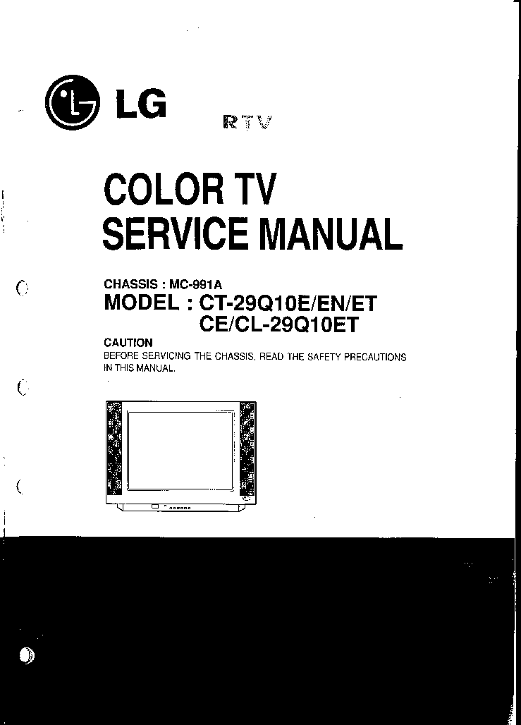 LG CE-29Q10ET SM Service Manual download, schematics