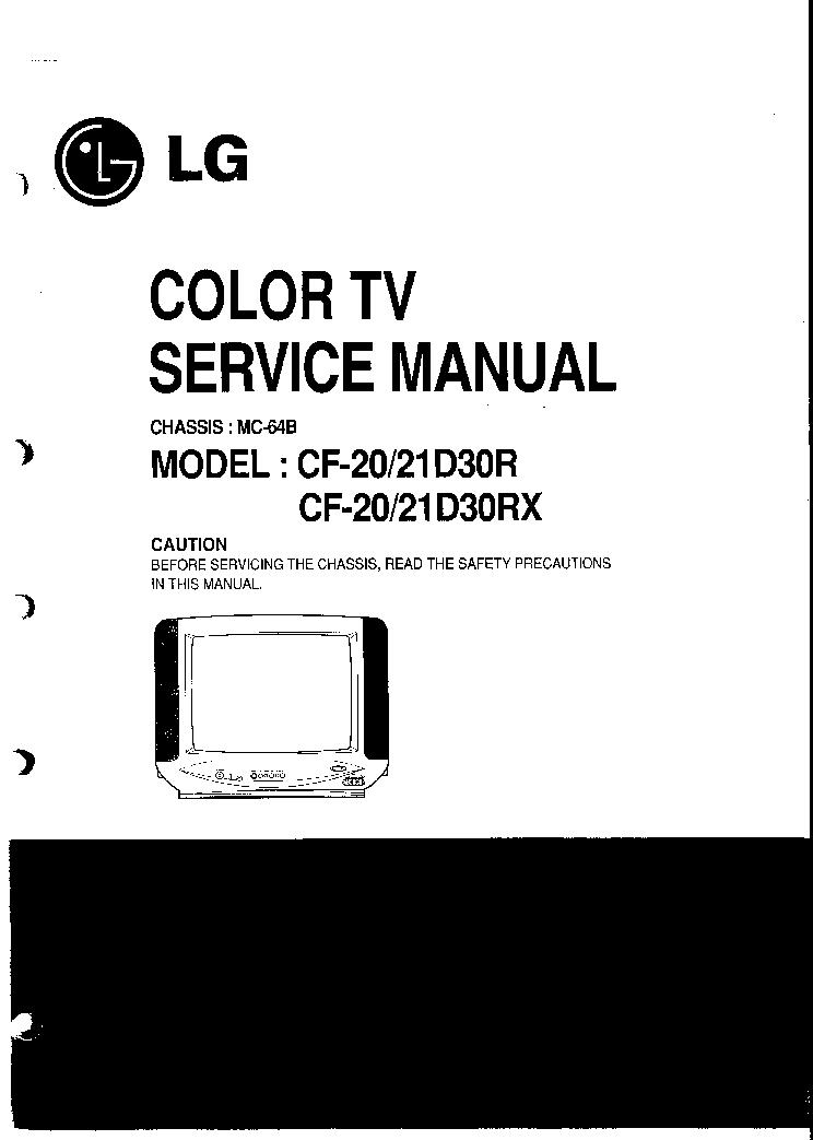 LG 21FU6TL L4 21FJ8RL L4 CHASSIS CW 81B SCH Service Manual