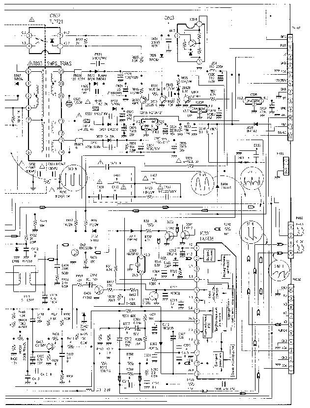 LG CF-25C44 Service Manual download, schematics, eeprom