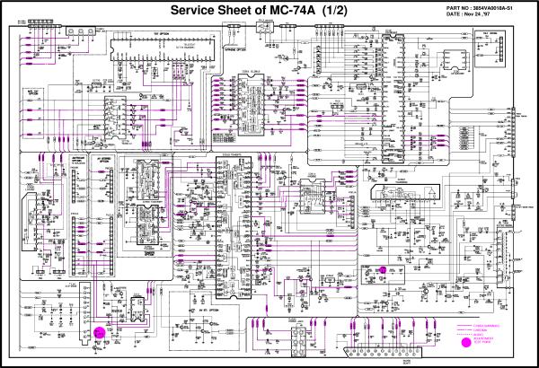 LG CF29H30MC74A Service Manual download schematics