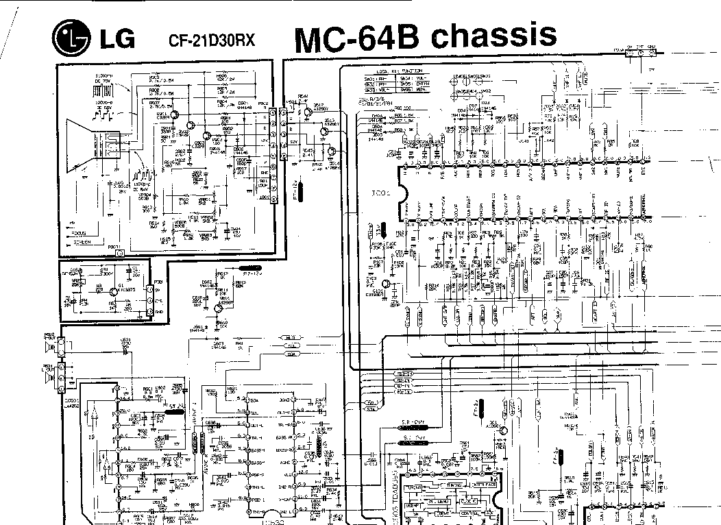 LG CH MC-64B Service Manual download, schematics, eeprom