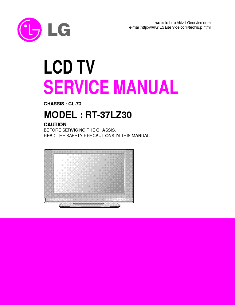 Lg Lcd Tv Rz 23lz41 Service Manual
