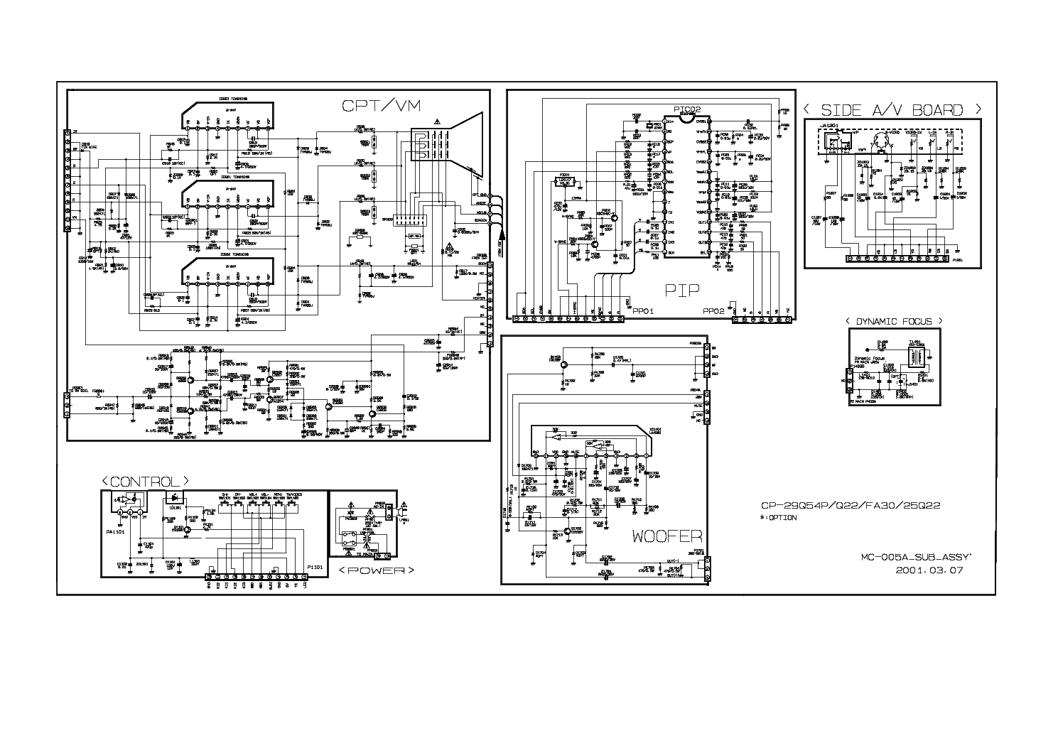 LG CP-25Q22 Service Manual download, schematics, eeprom