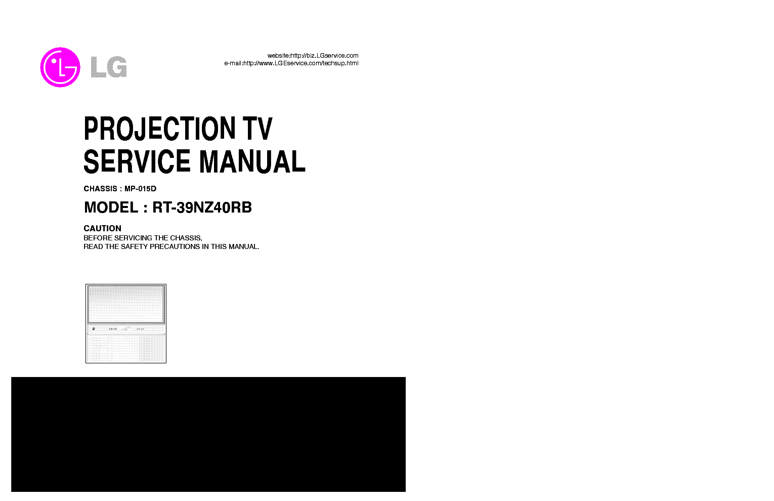 LG MP015D CHASSIS RT39NZ40RB PROJECTION Service Manual