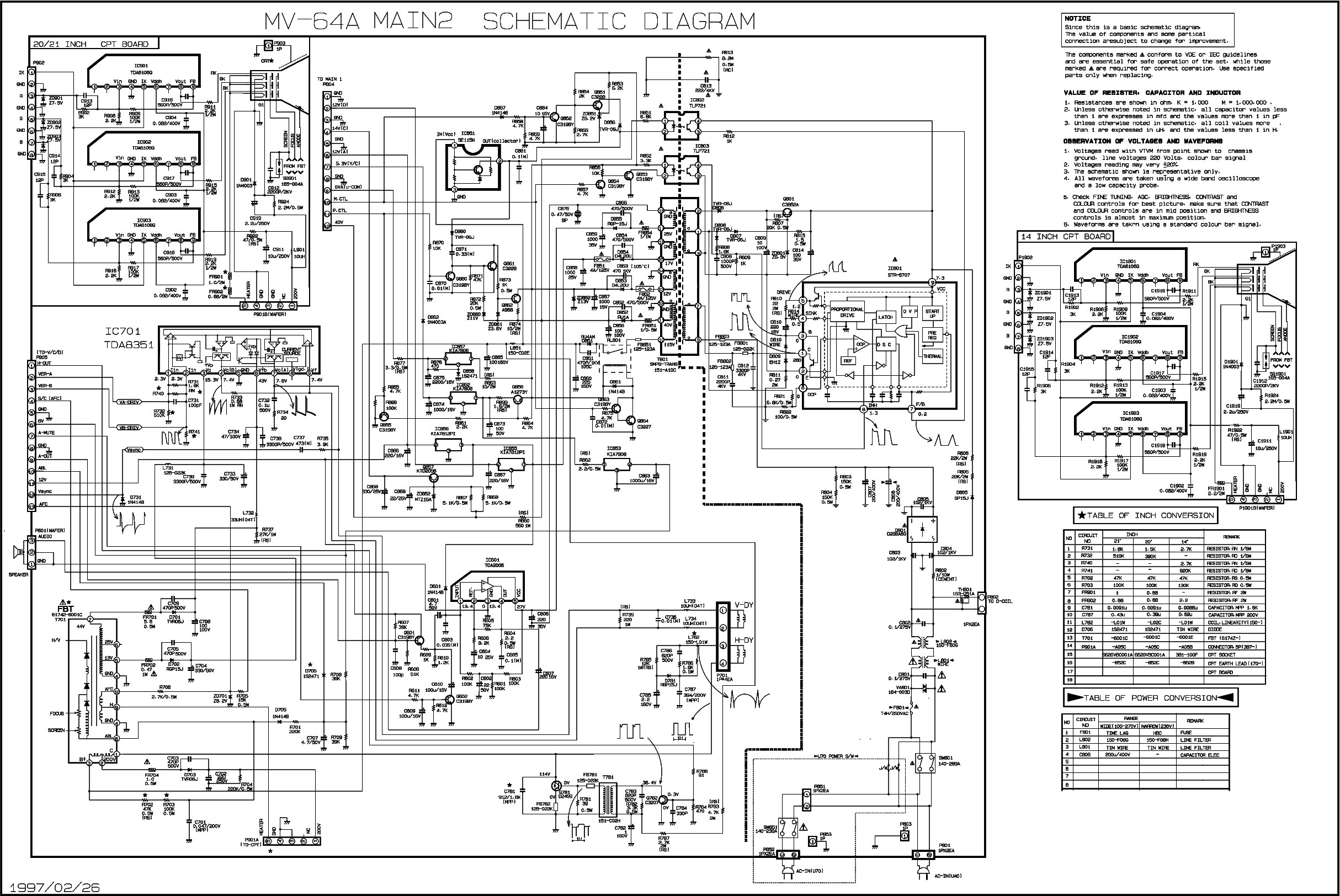 LG MV-64A CHASSIS SCH Service Manual download, schematics