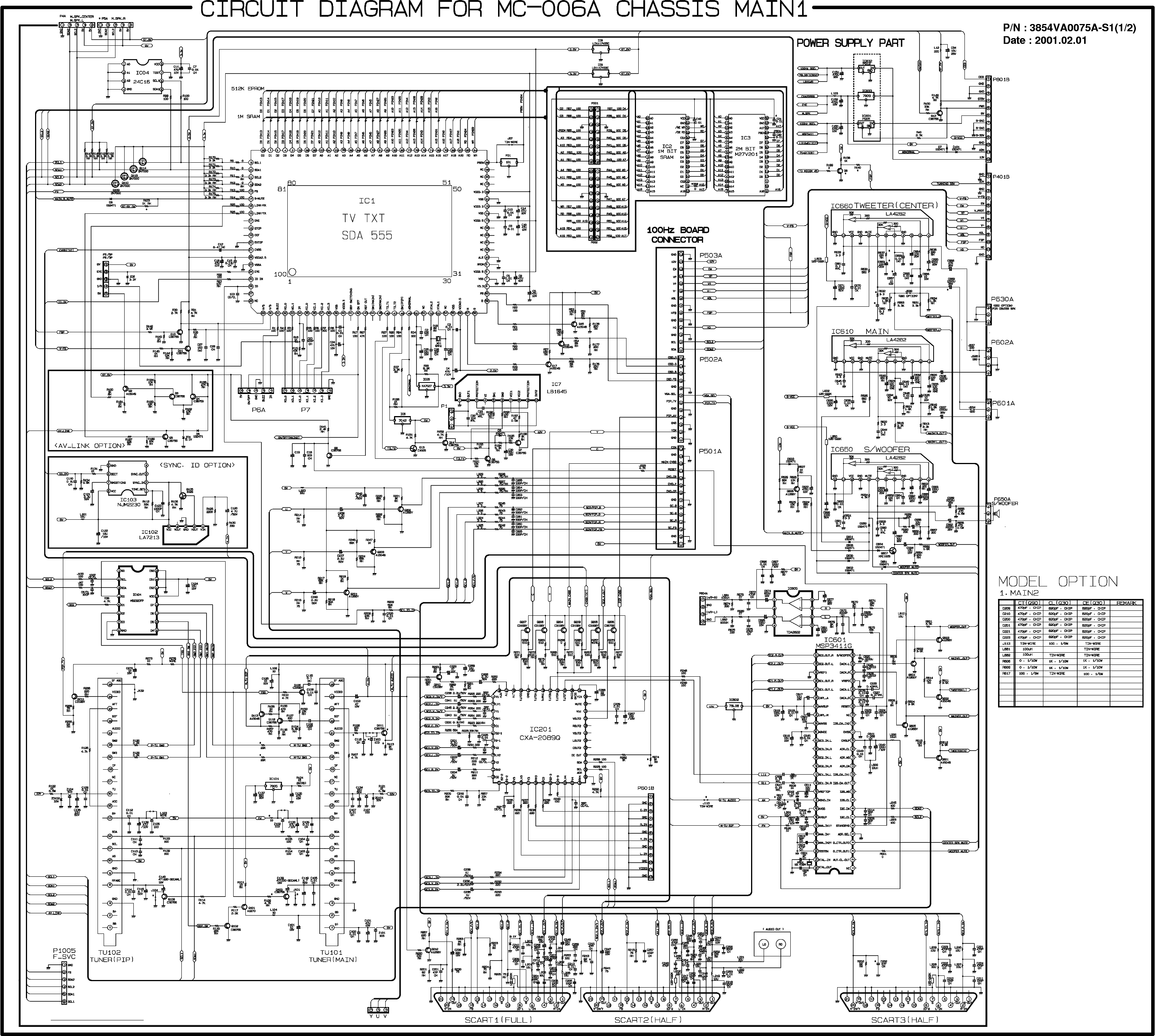 LG NC-5AA Service Manual download, schematics, eeprom
