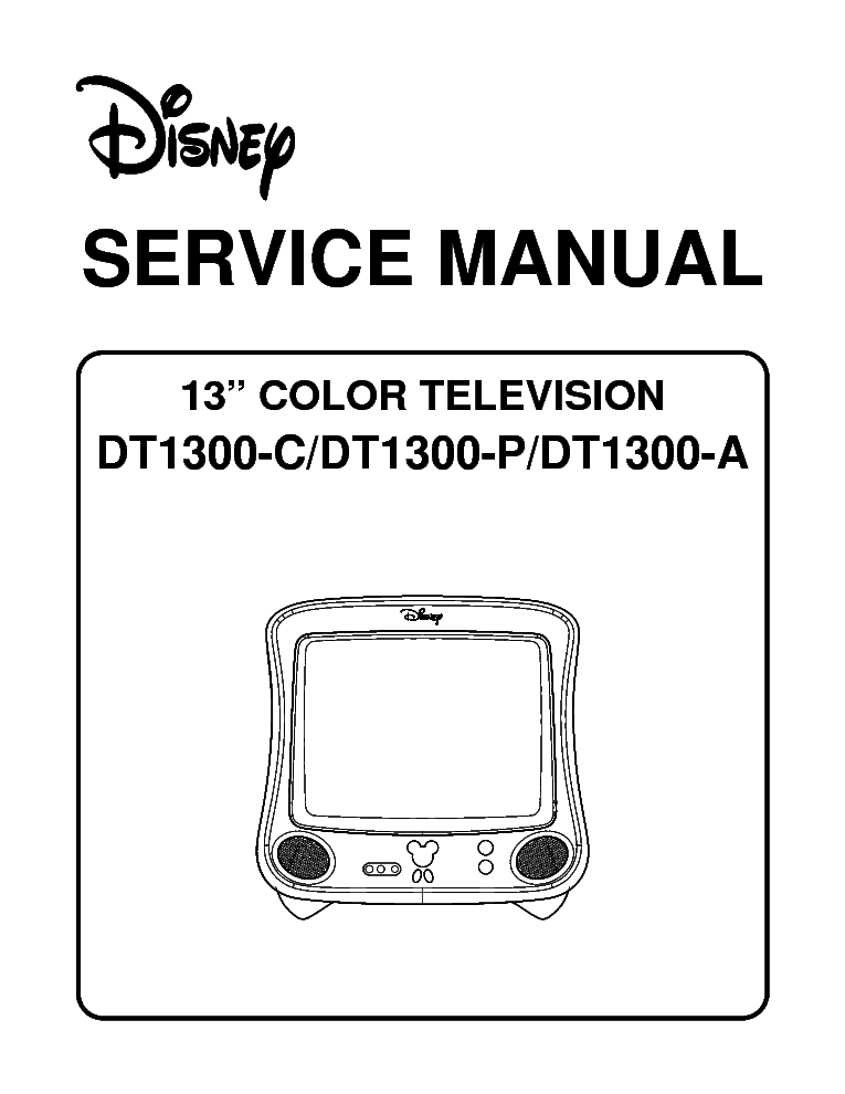 MEMOREX DT1300 M37281MAH TV SM Service Manual download