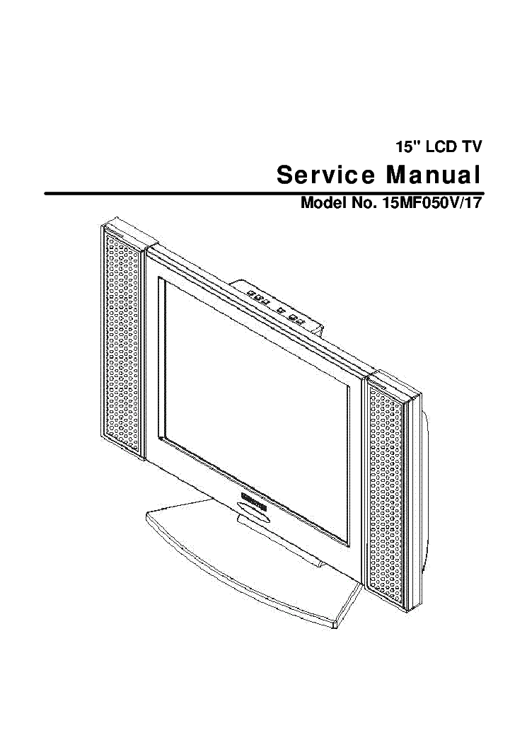 MEMOREX MLT1522SM LCD TV 2003 SM Service Manual download