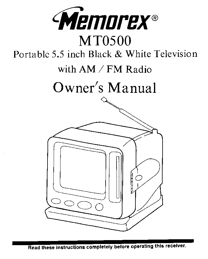 MEMOREX MT1134 OEC7091B TV SM Service Manual download