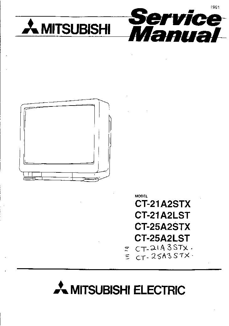 MITSUBISHI CT21A2STX LST SM Service Manual download
