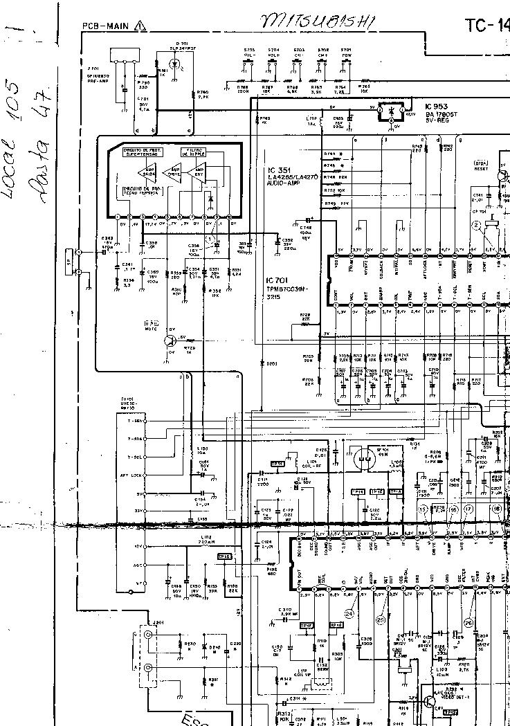 MITSUBISHI TC-1499 Service Manual download, schematics