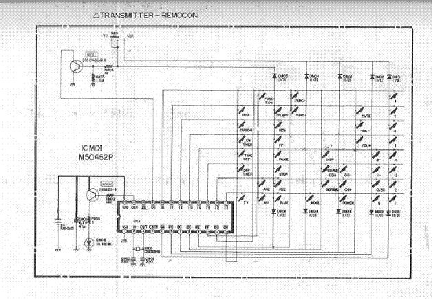 MITSUBISHI TC-2091 TC-2051 SCH Service Manual download