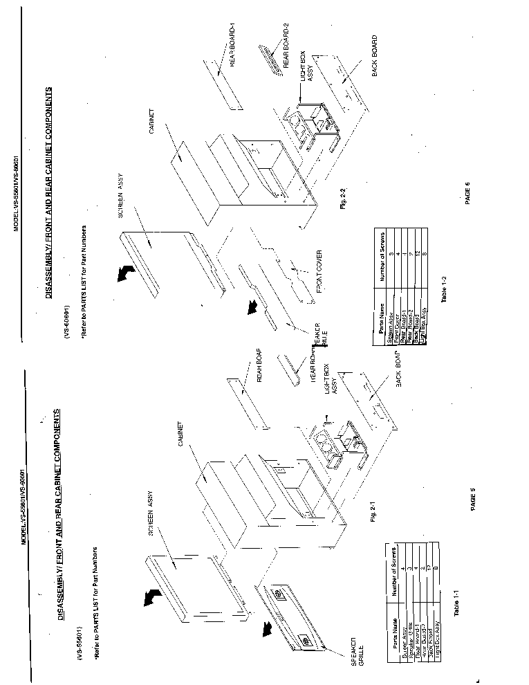 MITSUBISHI VS-55601 VS-60601 CHASSIS VZ4 SM Service Manual