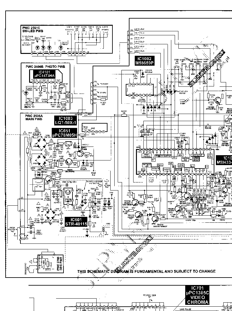 NEC FS-1921SK Service Manual download, schematics, eeprom