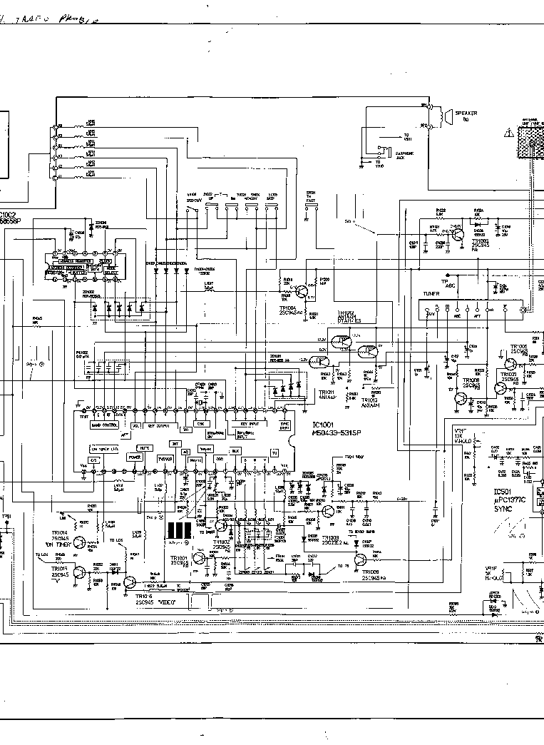 NEC FS-2140SK Service Manual download, schematics, eeprom