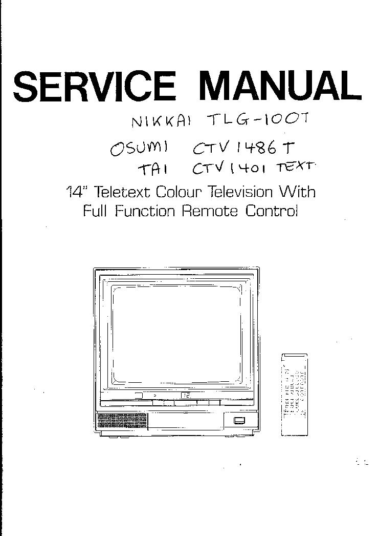 NIKKAI BABY10 MN15245 TA7698AP TV D Service Manual