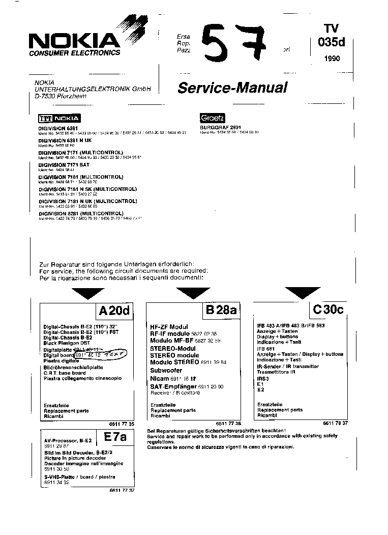 NOKIA 7175 Service Manual free download, schematics