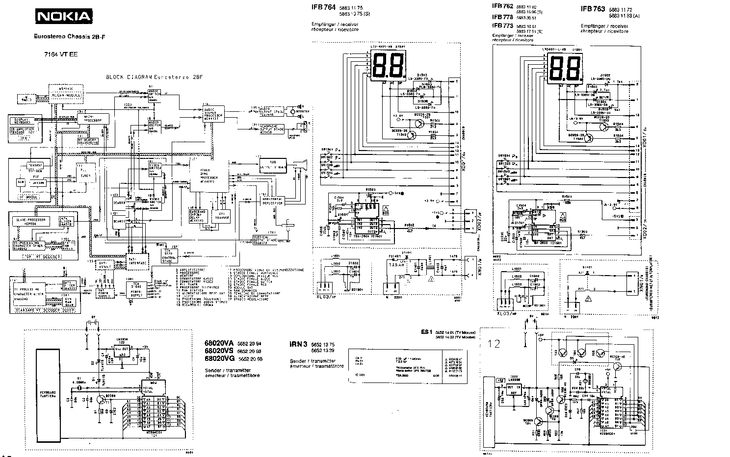 NOKIA IFB-620 CORE-90N Service Manual download, schematics