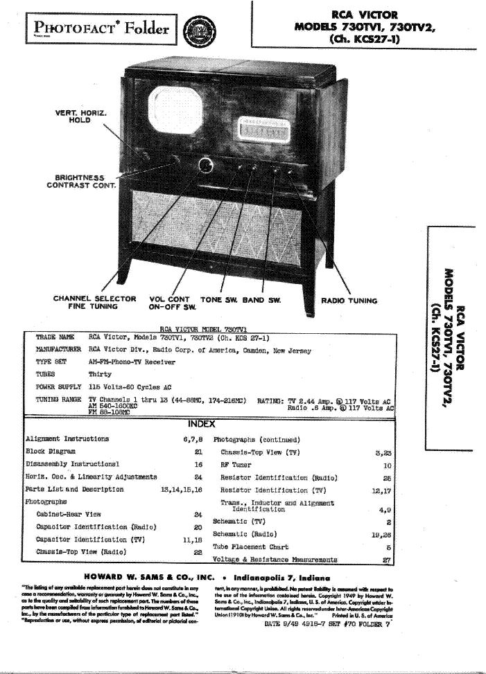 RCA RS2650-51 Service Manual download, schematics, eeprom