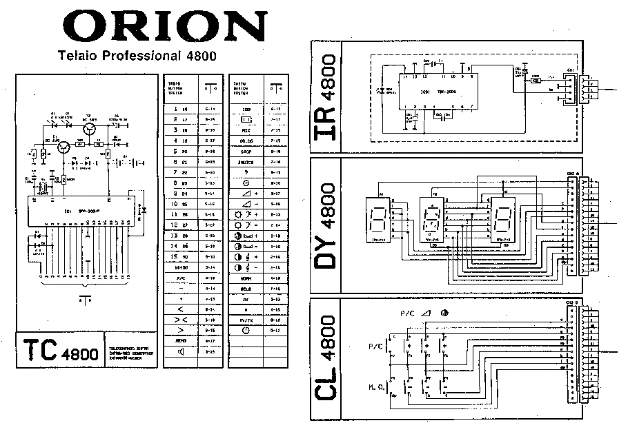 ORION 4800 Service Manual download, schematics, eeprom